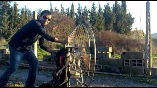 preview picture of video 'electric paramotor fet a Moia,Barcelona'