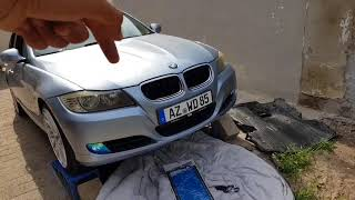 BMW E90 CRANKSHAFT PULLEY REMOVAL REPLACEMENT E91 E92 E93