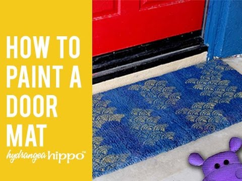 How to Paint a Door Mat 🖌️