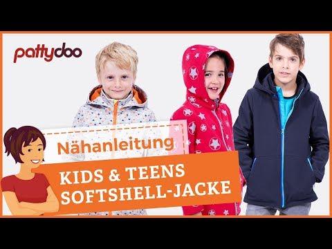 Softshelljacke für Kinder nähen - Anleitung Reißverschlusstaschen + Tunnelzug-Saum