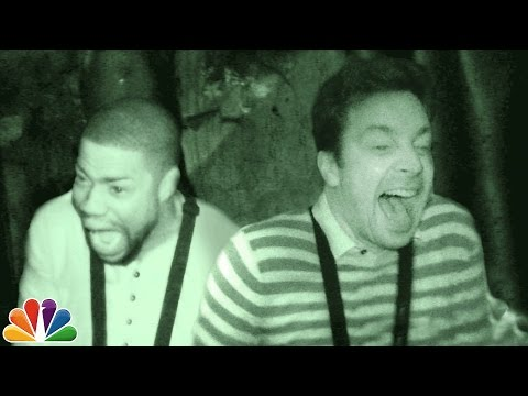Jimmy and Kevin Hart Visit a Haunted House (видео)