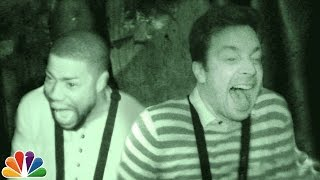 Jimmy and Kevin Hart Visit a Haunted House - dooclip.me