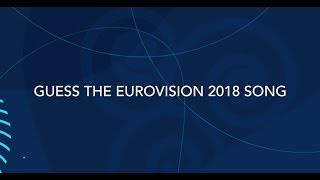 GUESS THE EUROVISION 2018 SONG -  in 3 seconds! (medium difficulty)