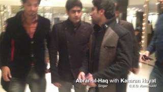 Abrar-ul-haq and Kamran Hayat taliking about website in PC Hotel after UBL Show