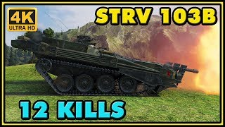 World of Tanks | Strv 103B - 12 Kills - 8,7K Damage - 1 VS 6 Gameplay