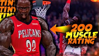 7 FOOT SUPER STRENGTH Cheat… STRONGEST MyPlayer In NBA 2K History!   DominusIV