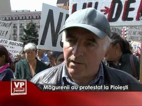 Măgurenii au protestat la Ploieşti