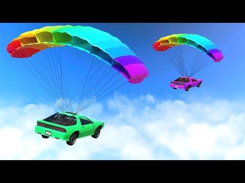 RACING WITH PARACHUTE CARS! (GTA 5 DLC)