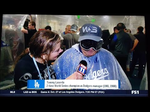 Tommy Lasorda interview on the Dodgers returning to the World Series 2018