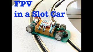 Driving a slot car via FPV-Camera