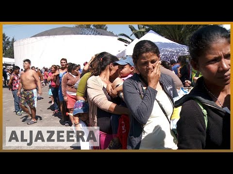 🇲🇽 Migrant caravan arrives in Mexico City en route to US border | Al Jazeera English