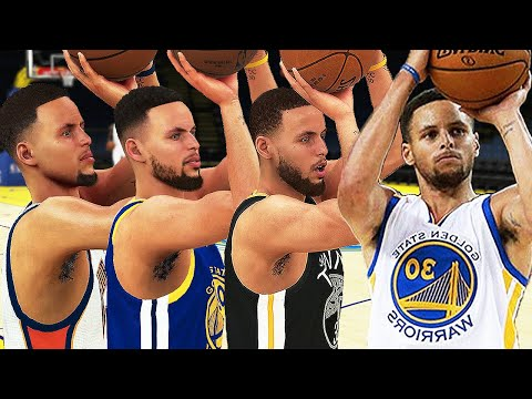 Stephen Curry - 3 Point Rating & Jumpshot Animation (NBA 2K10-NBA 2K19)
