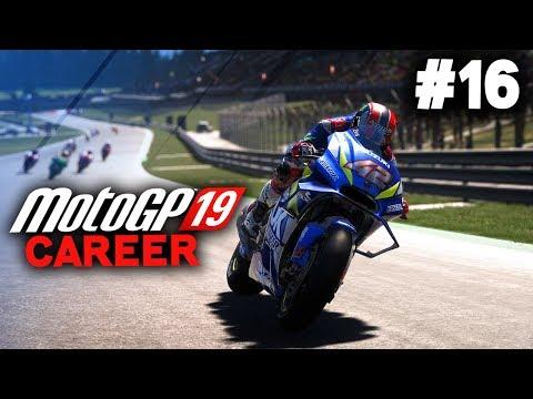 MotoGP 19 Career Mode Gameplay Part 16 - SCHROTTERS DOWNFALL (MotoGP 2019 Game Career Mode PS4 / PC)