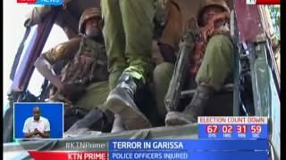 Three police officers injured as suspected Al Shabab militants ambush two police vehicles in Garissa