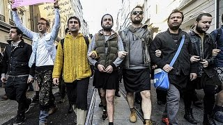 Men March In Skirts In Support Of Rape Victim thumbnail