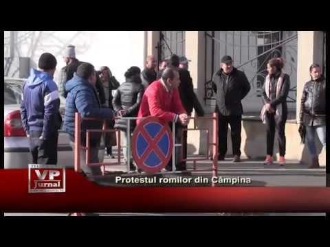 Protestul romilor din Campina