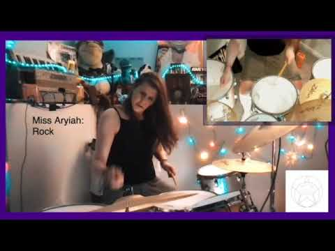 An example of Rock drumming, improvised by Miss Aryiah