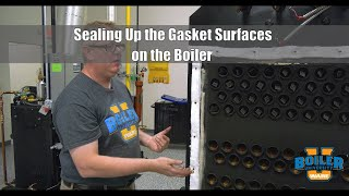 Sealing Up the Gasket Surfaces on the Boiler