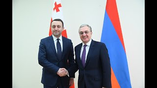 Rencontre entre le ministre des Affaires étrangères de l'Arménie et le ministre de la Défense de la Géorgie