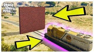 Что будет, если ПОЕЗД врежется в СТЕНУ в GTA 5 - эксперименты в GTA 5