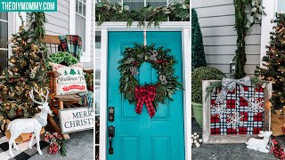 FRONT DOOR CHRISTMAS DECORATIONS | Rustic Farmhouse