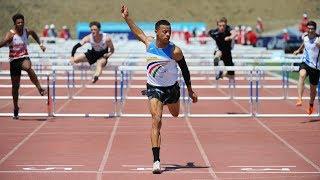 Angers 2019 : Record du monde cadets / U18 de Sasha Zhoya en 12''87 sur 110 m haies (world record)