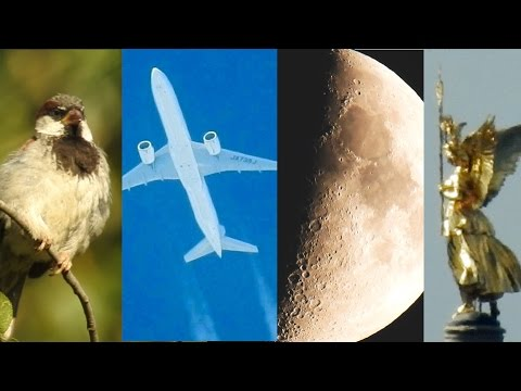 NIKON Coolpix P900 Optical Zoom Test - Moon, Planes, Bird, Church - Super Zoom
