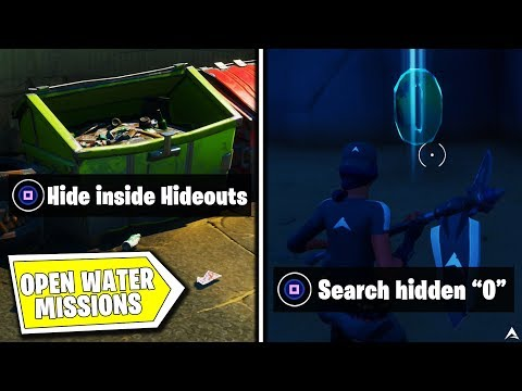 All OPEN WATER MISSIONS and REWARDS on Fortnite Chapter 2 Season 1...
