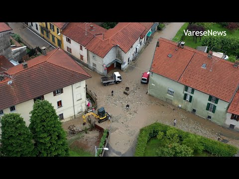 L'alluvione di Gavirate vista dal drone