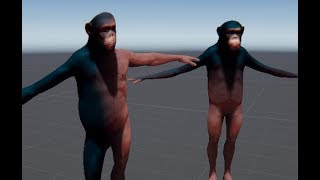 Transformation into a monkey, Unity