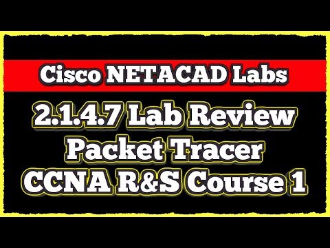 Cisco CCNA NETACAD Routing and Switching v6.0 - Lab 2.1.4.7 (Packet Tracer)