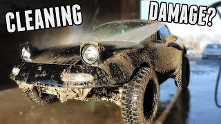 Cleaning the Rally Miata & Assessing the Damage