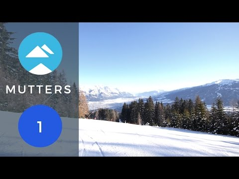 Ride the top section of ski piste blue 1 in Mutters, Innsbruck with Piste View