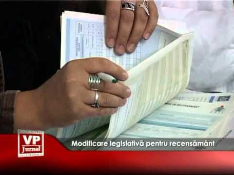Modificare legislativă pentru recensământ