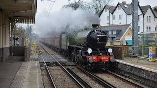 preview picture of video 'Mayflower returns to the Mainline - LNER B1 61306 'Mayflower' at Acton Central'