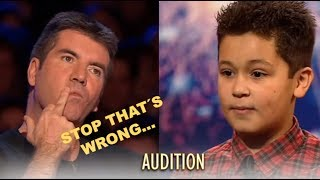 Simon Stops Little Boy And Asks Him To Sing Another Song...Watch What Happens! Britain´s Got Talent