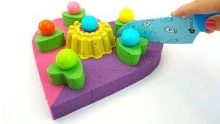 Кинетический песок, лепим торт, рукоделие для детей