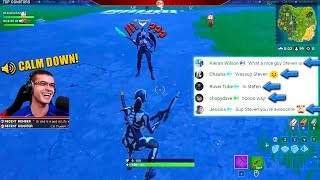 I've never met someone as happy as this 10 year old kid in Fortnite!