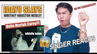 Idayu Sings Whitney Houston Medley [SINGER REACTS]