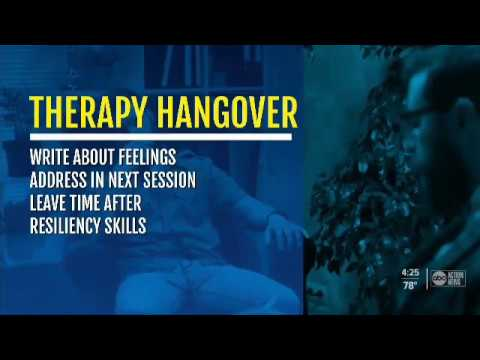 Therapy hangovers are common