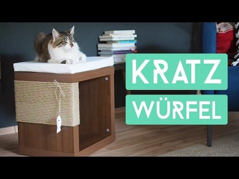 Kratzwürfel für Katzen - Schicker Kartzbaumersatz