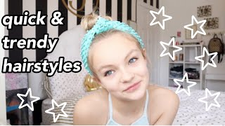 5 Quick & Trendy Hairstyles // Pressley Hosbach