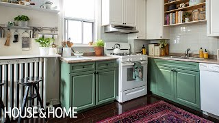 Not-So-Simple DIY Small Kitchen Makeover!