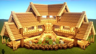 Easy Minecraft: Large Oak House Tutorial - How To Build A Survival House In Minecraft #33