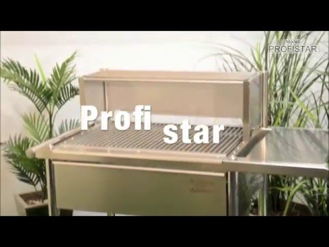 Edelstahlgrill - Holzkohlegrill - Der Profigrill für Gastronomie und Gewerbe - PROFIstar