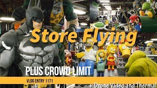 Giant Toy Store FPV Racing Drone Flying And Mavic Mini Capture