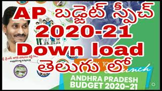 AP Budget 2020-21  తెలుగు లో Download    Ap grama ward sachivalayam
