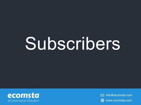 Subscribers- eCommerce Script