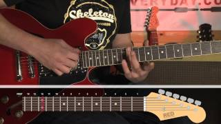 How to play - Jumpin' Jack Flash - chorus - Rolling Stones - guitar lessons