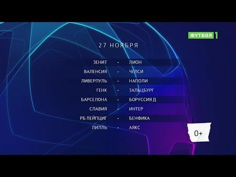 Лига чемпионов. Обзор матчей 27.11.2019